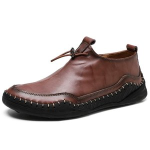 Classic Men Casual Shoes High Quality Leather Men Loafers Flat Spring Autumn Mans Moccasins Shoes Breathable Men's Flats Shoes'
