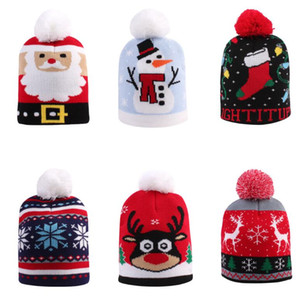 Infant Baby Knitted Beani Crochet Knit Cap Christmas Cap Xmas Baby Hat for Children 1 to 6 Years Old