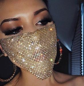 Las mujeres elegantes del diamante Bling Fa máscara facial de la máscara del partido de lujo Hallowma mitad Fa Dan Máscaras atractiva del verano Ac ve rter mujeres elegantes D PDDL