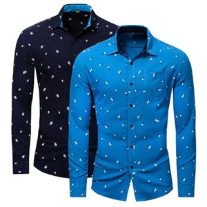 NEW shirts Business casual autumn long sleeve men shirts High quality brand 100% cotton shirt men Plus Size chemise homme J1216