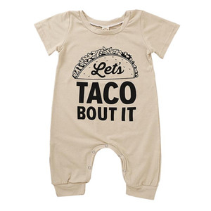 Baby Letter Jumpsuits Infant Printed Short Sleeve Onesies Casual Baby Rompers Toddler Boys Clothes Vêtements Bébé Girl Jumpsuit