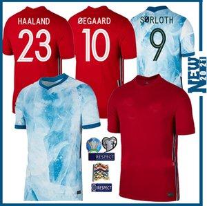HAALAND # 23 2020 2021 NOR di calcio della nazionale maglie Ullevaal Ødegaard Sørloth NORMANN Noreg casa Un modo di gioco del calcio Uniformi camice dell'uomo