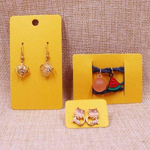 2020 hot sale New DIY 200pcs Shinning Yellow Earring Card For 1 Pair Earring 5X9cm Or 2.5x3.5cm Or 5X7CM Hair Clip Card