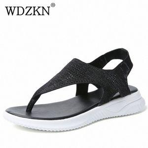 WDZKN New Women Sandals 2019 Summer Casual Shoes Flying Weaving Air Mesh Flat Sandals Women Flip Flops Slip On Ladies hfps#