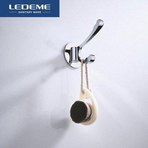 LEDEME Robe Hook Chrome Viscose Kitchen Up Down Hooks for Towel Hook Modern Easy Install Bathroom Wall Robe Hooks L202-1 YC5e#