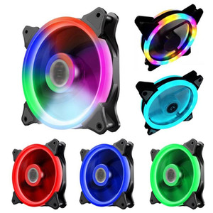 120 milímetros Computer Cooling Fan RGB PC Radiator Caso ajustável Fan LED dissipador colorido tranquilos Refrigerador Fãs de computador mais frias Fans