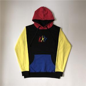 Fashion-Mens Designer Hoodies Stitching Color Revenge Bad Hoodie XXXTENTACION High Street Fashion Brand Loose Sweatshirt S-XL