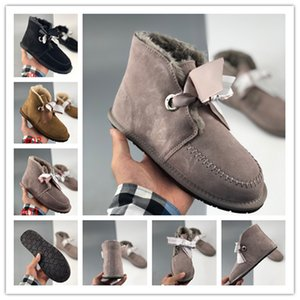 Womens Boots Snow Booties Classic Short bow Ankle Knee Black Grey Brown Red Pink Blue Women Winter Boot Size 35-40