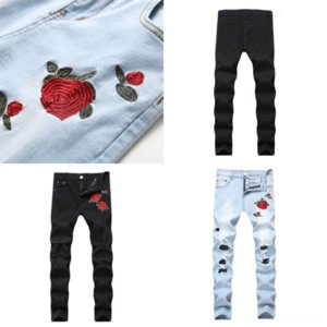 J7AF2 Moda Streetwear Hombres Jeans Fit Fit Azul Scratch Casl Pierna suelta Pantalones Jeans Pantalón Rasgado Denim Harem Pantalones Estilo Coreano Hip Hop Jeans