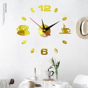 DIY Modern 3D Creative Clock Acrylic Mirror Stickers Large Wall Clock Living Room Quartz Needle Horloge Home Decor Wallclock