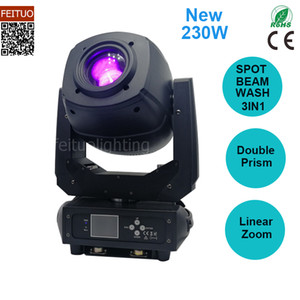 Super Bright Lyre 230w Led Beam Spot Wash 3in1 Moving Head Light Double Prism Linear Zoom Rotation Dmx Led Spot Moving Head