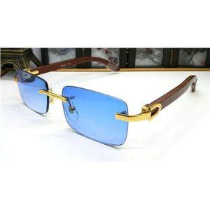 Ienbel 2019 Superior Proveedores al por mayor Wholesale Rimless Designer Sun Glasses Men Classic Glass Wooden Sunglasses Buffalo Cuerno Marco