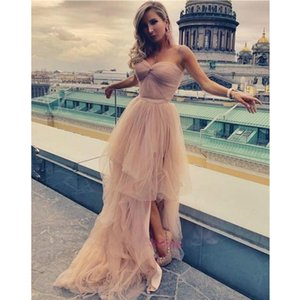 Elegant Tulle Long Prom Dresses Sweetheart Corset A Line Evening Dress vestidos de fiesta Customize 2021 Women Formal Party Gown