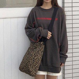 Fashion Women Men Leopard Casual Handbags 2020 New Hot Soft School Students Book Bag Canvas Bags Shoulder Bags
