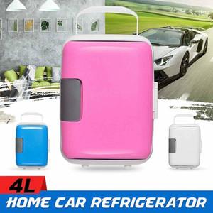 Автомобильный холодильник 4L электрический портативный мини холодильник охлаждающий отопление морозильник 12V / 220V компрессор для домашнего офиса Picnic -5 ~ 651