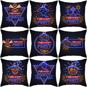 Print Cover Nordic Cartoon Halloween Pillow Cushion Cover Sofa Pillow Cover Home