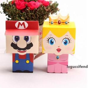 Super Mario Bros princess 25pcs Bride 25pcs Groom wedding favors Mario candy box for wedding gifts 50pcs lot
