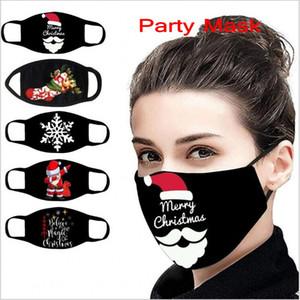 2020 Рождество маски Сант-Клаус Снежинка Печати Mouth Обложка пыл дышащая маски для лица многоразового украшения Xmas Party Mouth крышки
