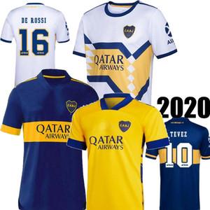 20 21 Boca Juniors DE ROSSI casa Blu Lontano Bianco Giallo Uomini Jersey di calcio TEVEZ MARADONA ABILA Boca camisa de futebol maglia di calcio 2021