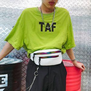 Fashion Fanny Pack For Women Men Waist Bag Colorful Unisex Waist Bag Belt Zipper Pouch Packs Belt Bolsa Feminina Hw