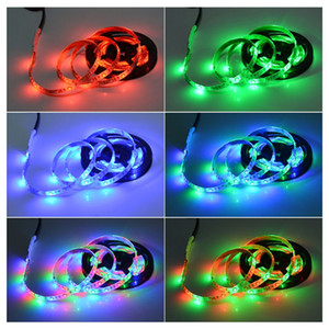 Fashion 5V USB LED RGB Strip lamp RGB Book light Bulb TV Background Decor Lighting Ribbon desk decor tape Strings 1M 2M 3M 4M 5M
