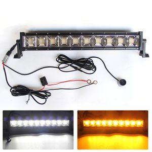 Wholesale 4X4 12V 50000Hours Multi Color Flash IP68 Strobe Flashing Amber Super Slim Led Car Light Bar