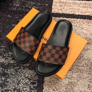 ESCALE LOCK IT FLAT MULE الرجال مصمم الكلاسيكية رخيصة النعال كليب قدم أسلوب الآخر الصنادل أحذية النمط الأوروبي العلامة التجارية النعال