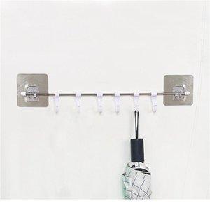 قوي شفط كأس هوك قوي لزجة 6 hooks حتى القضبان جدار منشفة الرف الرف السنانير شماعات مطبخ خزانة ستائر BBYCSV