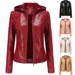 Womail leather jacket women winter Leather Jacket Parka Zipper Tops Overcoat Outwear Long Coat Outerwear Elegant Coats