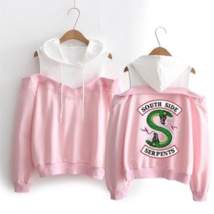 Long Side Hoodies South Southside Off-Shoulder Sweatshirts Hooded Women Sleeve Riverdale Clothes Serpents Exclusive Xfvjv