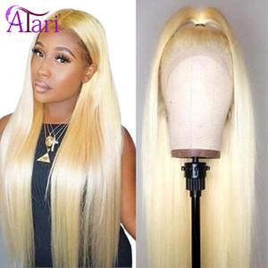 Perruques en dentelle 28 30 pouces 613 blonde transparente frontale transparente 13x4 frontale frontale péruvienne vierge cheveux