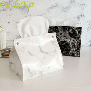 Pu marble leather handkerchief bag   124; car handkerchief clip, tissue bag, portable towel distributor, house decoration