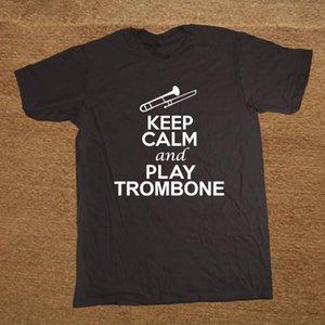 Sport Shirts Keep Calm And Play Trombone Music Lover DT-Erwachsen-T-Shirt T-Mode-T-Shirt Männer Kleidung