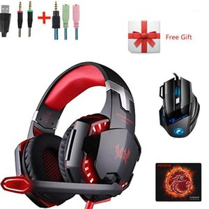 Combination G2000 LED Gaming Headphones with Microphone Stereo Led Headset + Gaming Mouse for PC Gamer PS4 New XBOX Laptop1