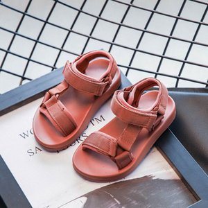2020 New Kids Baotou Sandals Fashion Magic Stick Casual Boys Solid Color All Around Beach Shoes Baby Light Comfortable Sandals h77d#