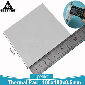 1 Piece White   Blue 100x100x0.5mm GPU SMD DIP IC Chip PS PC Chipset Silicone Conduction Thermal Pad