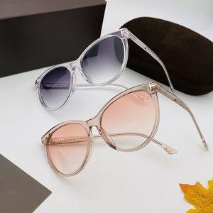 أحدث مصمم TF787 موجز الفراشة جولة Cateye النساء نظارات شمسية UV400 56-16-140 Fullrim التدرج حملق لصفة fullset صندوق