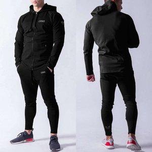 Фитнес весна и осенью братья мышцы мужские бегущие упражнения хлопчатобумажные брюки спортивные досуг двух частей костюм