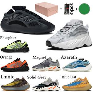 Con caja 2020 Stock x Adidas Kanye West Yeezy 700 Mujer Hombre Zapatillas Running Talla Grande 46 700 V3 Alvah Estático Vanta 380 Lmnte Azael Azareth Zapatillas deportivas