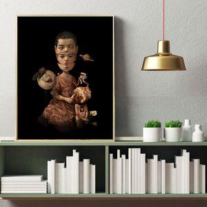 Childish Strange Dark World Children Art Canvas Poster Painting Wall Picture Print Home Bedroom Decoration Artwork