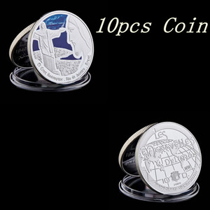 10pcs Jesus Christianity South America Brazil Rio Landmark Commemorative Silver Plated Coin Collection