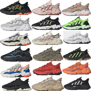 Adidas OZWEEGO 2020 pattini casuali Ozweego Uomini Donne nuvola bianca Trail dimensioni Nero Bianco Multi Solar Red Sneakers Trainer Sport Chaussures 36-45