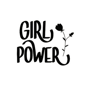 17*13.5cm Girl Power Sticker For auto Window, Bumper Car Accessories Motorcycle Helmet Car Styling Car Sticker