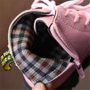 New Children Spring Autumn Shoes Waterproof Pu Leather Winter Boys Girls Warm Snow Boots Student Black Dress Kids Ankle Boots 02 bbyfNQ