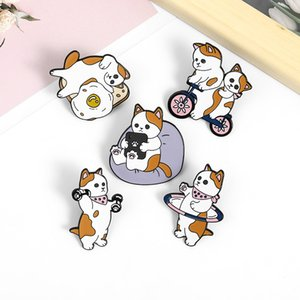 Cartoon Cats Family Series Enamel Pins Kitten Cute Lovely Exercises Brooches Metal Custom Jewelry Fashion Accessories Backpack Denim Badges