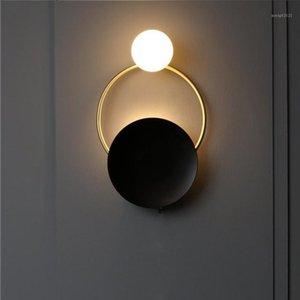 Antique Bronze Wall Sconce Black Wall Lampe Luminaire de verre G9 Ampoule Loft Lampe Intérieur Lampe de nuit Lampes de chevet1