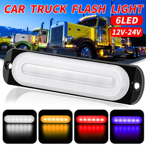 DC12-24V 18W 6LED 12 LED Car Truck Motorcycle Emergency Beacon Warning Hazard Flash Strobe Underbody Turn Emergency Light Bar Amber
