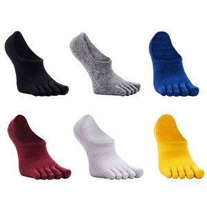 6 Color Available Men's Absorb Sport Sweat Leisure Five Invisible Ankle Toe Socks W1