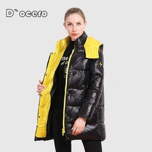 Ceprask 2020 Новая Зимняя Куртка Женщины Высокое Качество Пальто с капюшоном Мода Женские Куртки Зимняя Теплая Одежда Повседневная Parkas Outlwer1