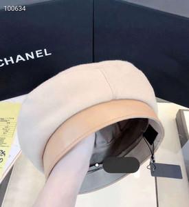 Yüksek kaliteli haute couture newsboy şapka deri bere kış sonbahar fashionelegant şapkalar İngiliz Stil Kız Sanatçı Ressam Cap Sıcak Şapka